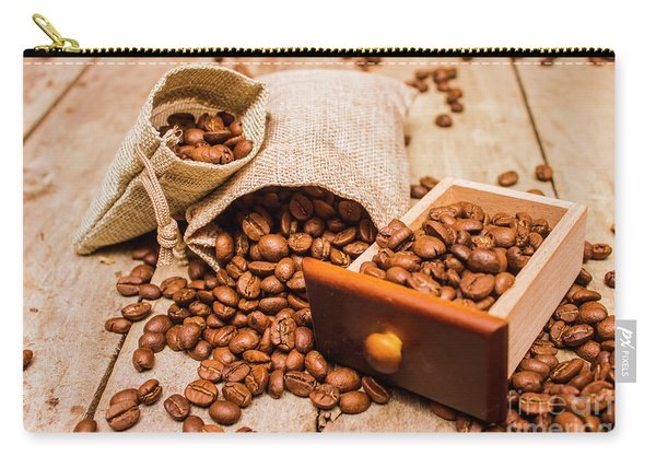 Burlap Bag Of Coffee Beans And Drawer Carry-all Pouch