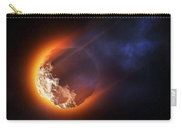 Burning Asteroid Entering The Atmoshere Carry-all Pouch