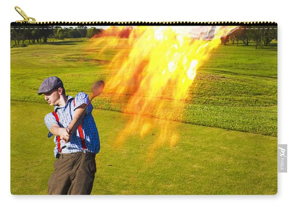 Burning Golf Ball Carry-all Pouch