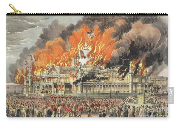 Burning Of The New York Crystal Palace In 1858 Carry-all Pouch