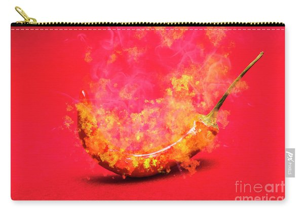 Burning Red Hot Chili Pepper. Mexican Food Carry-all Pouch