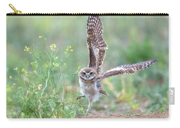 Burrowing Owl Spies Grasshopper Carry-all Pouch