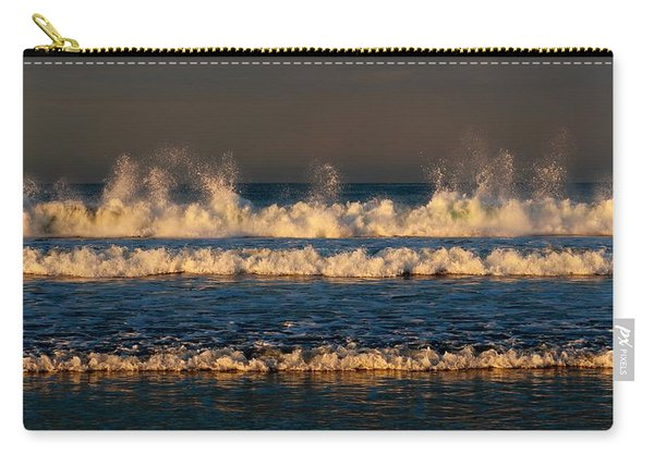 Carry-all Pouch featuring the photograph Dancing Waves - 3 by Christy Pooschke