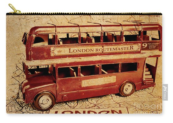 Buses Of Vintage England Carry-all Pouch