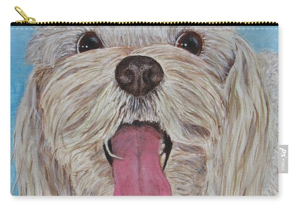 Carry-all Pouch featuring the painting Buster by Nancy Nale
