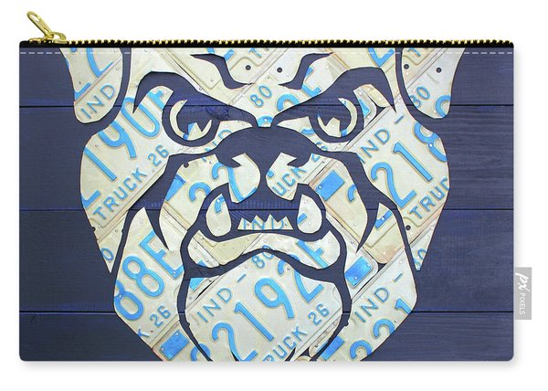 Butler University Indiana Bulldogs Mascot License Plate Art Logo Carry-all Pouch