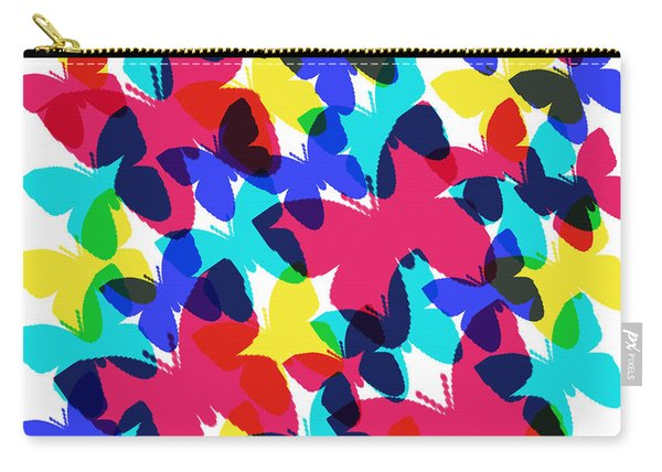 Carry-all Pouch featuring the digital art Butterflies by Bee-Bee Deigner