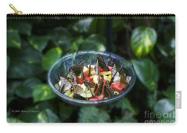 Carry-all Pouch featuring the photograph Butterflies Feeding by Richard J Thompson