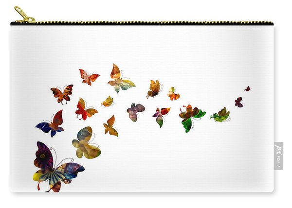 Carry-all Pouch featuring the photograph Butterflies by Michael Colgate