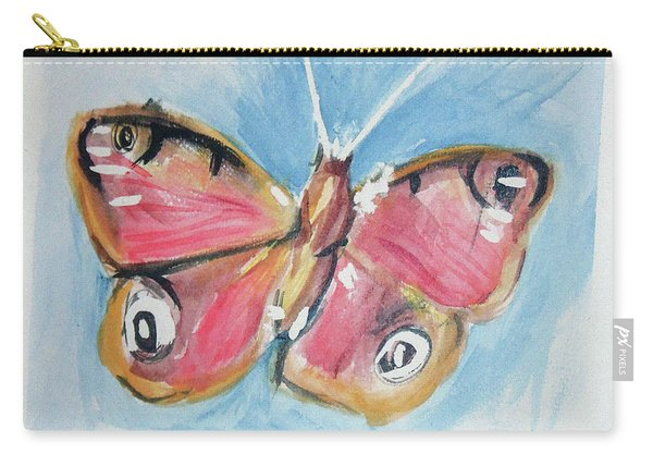 Carry-all Pouch featuring the painting Butterfly 3 by Loretta Nash