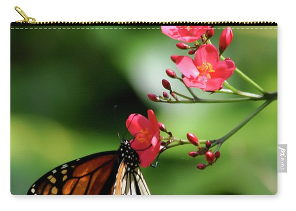 Butterfly And Blossom Carry-all Pouch