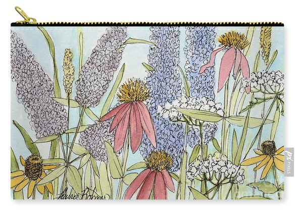 Butterfly Bush In Garden Carry-all Pouch