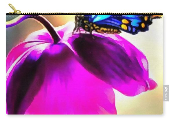 Butterfly Floral Carry-all Pouch