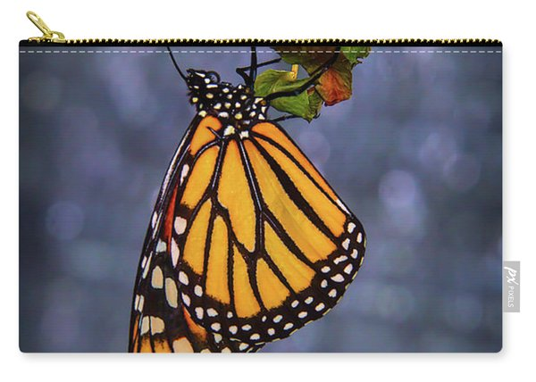Butterfly Hanging From Leaf Carry-all Pouch