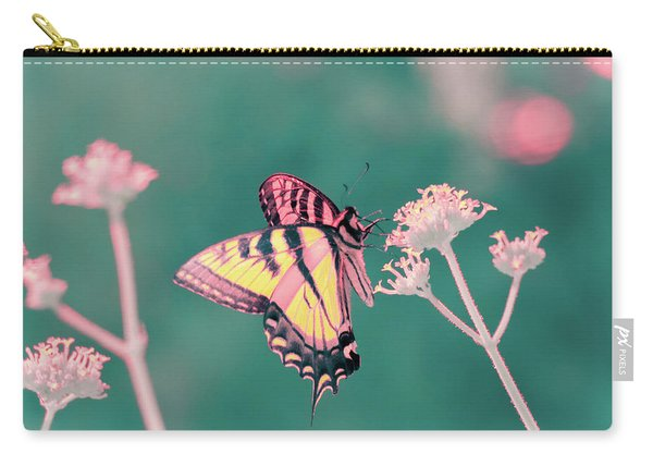 Carry-all Pouch featuring the photograph Butterfly In Infrared by Brian Hale