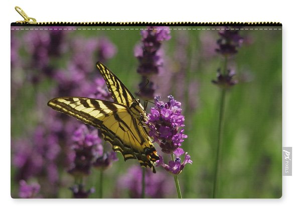 Butterfly In Lavender Carry-all Pouch