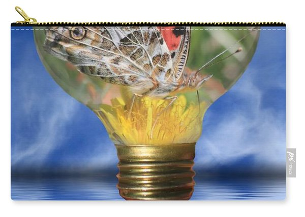 Butterfly In Lightbulb Carry-all Pouch