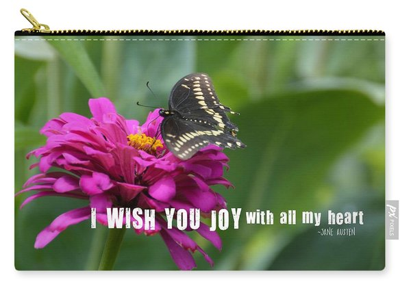 Butterfly Joy Quote Carry-all Pouch