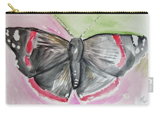Carry-all Pouch featuring the drawing Butterfly by Loretta Nash