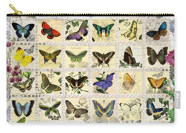 Butterfly Maps Carry-all Pouch