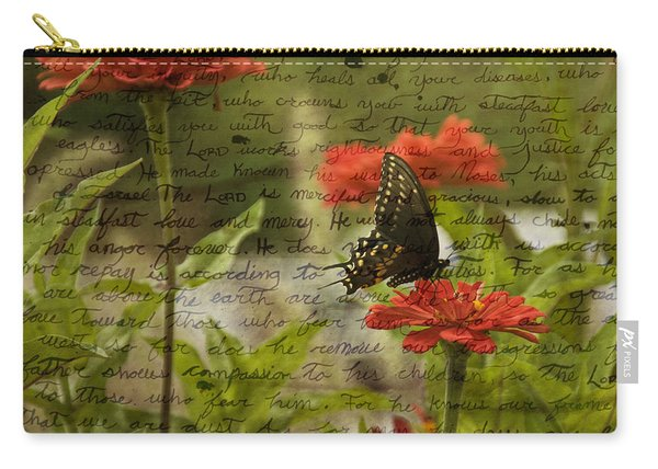 Butterfly Notes Carry-all Pouch