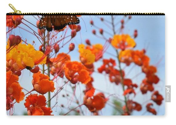 Butterfly On Bird Of Paradise Carry-all Pouch