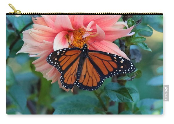 Butterfly On Dahlia Carry-all Pouch