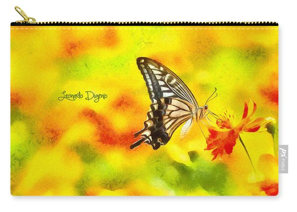 Butterfly On Flower - Da Carry-all Pouch