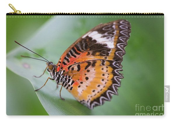 Butterfly On The Edge Of Leaf Carry-all Pouch
