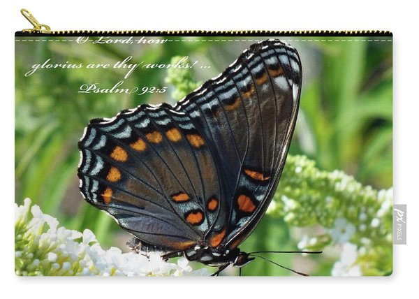 Butterfly Psalm 92 Scripture Carry-all Pouch