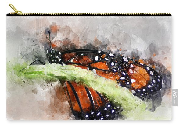 Carry-all Pouch featuring the photograph Butterfly Watercolor by Michael Colgate