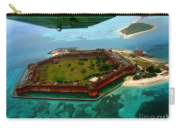 Buzzing The Dry Tortugas Carry-all Pouch