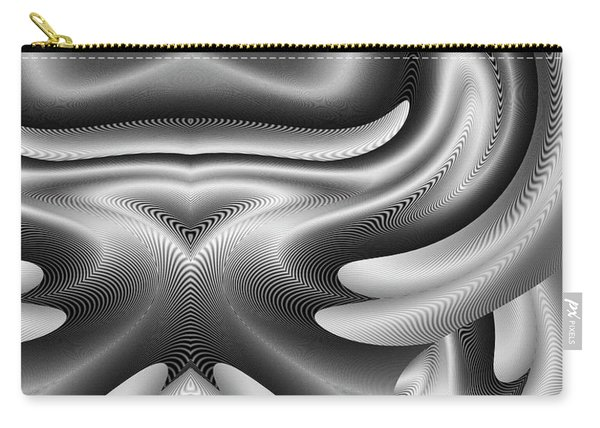 Carry-all Pouch featuring the digital art Bw Art 8 by Visual Artist Frank Bonilla
