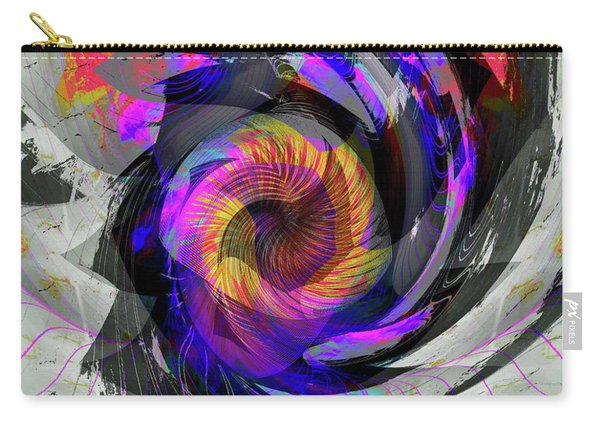 Carry-all Pouch featuring the digital art Bw Rose by Visual Artist Frank Bonilla
