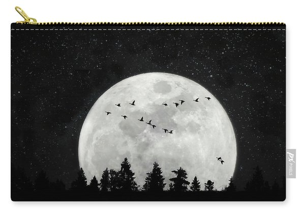 By The Light Of The Silvery Moon - Birds  Carry-all Pouch