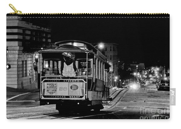 Cable Car At Night - San Francisco Carry-all Pouch