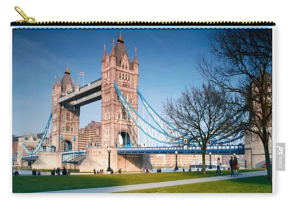 Cable-stayed Walk Way Over Bridge In London Carry-all Pouch