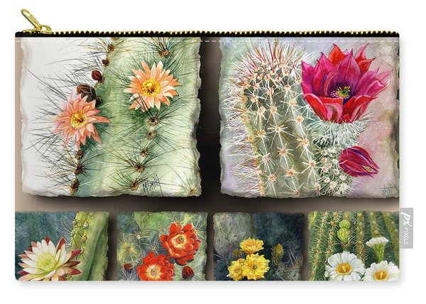 Cactus Collage 10 Carry-all Pouch