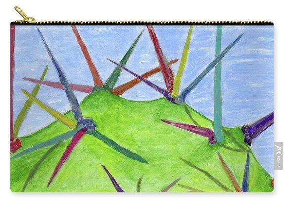 Cactus Rainbow Carry-all Pouch