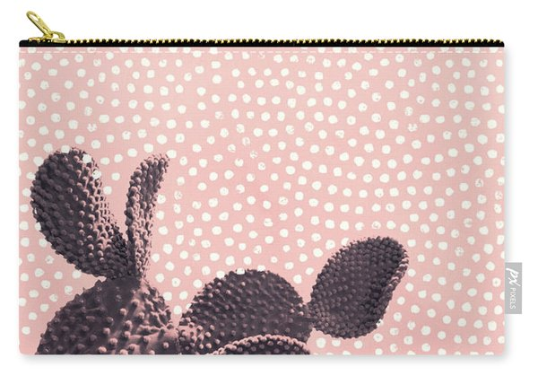 Cactus With Polka Dots Carry-all Pouch