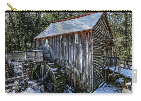 Cades Cove Grist Mill In Winter Carry-all Pouch