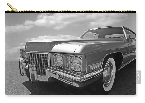 Cadillac Coupe De Ville 1971 In Black And White Carry-all Pouch