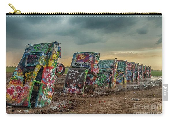 Cadillac Ranch Before The Rain Carry-all Pouch