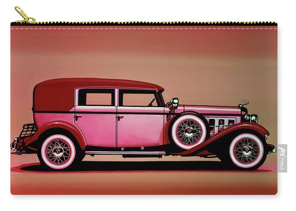 Cadillac V16 Mixed Media Carry-all Pouch