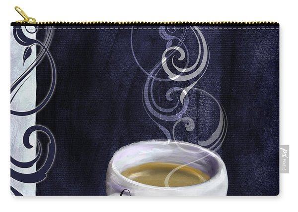Cafe Blue Iv Carry-all Pouch