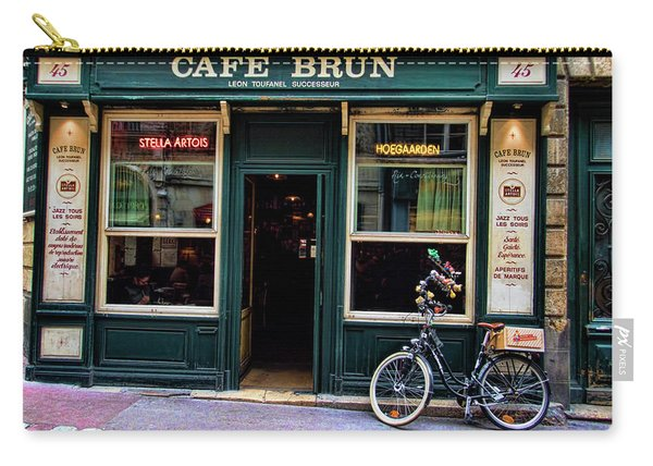 Cafe Brun In L'orient France Carry-all Pouch