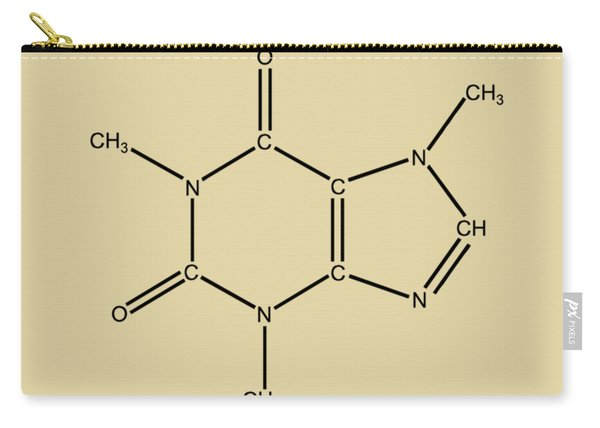 Caffeine Molecular Structure Vintage Carry-all Pouch