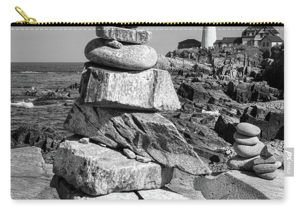 Cairn And Lighthouse  -56052-bw Carry-all Pouch