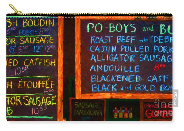 Cajun Menu Alligator Sausage Poboy - 20130119 Carry-all Pouch