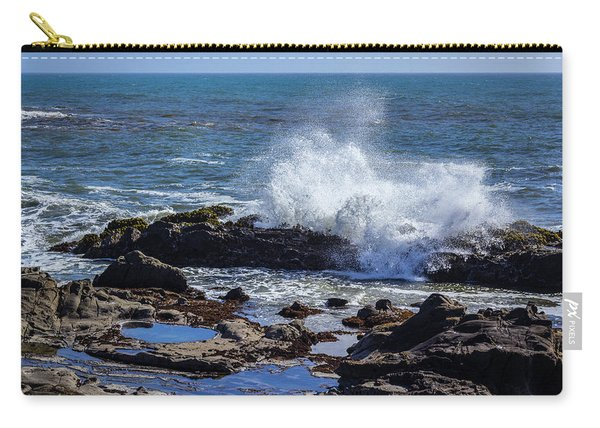 Wave Crashing On California Coast Carry-all Pouch